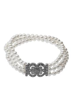 Lord & Taylor - Pearl Diamond Bracelet