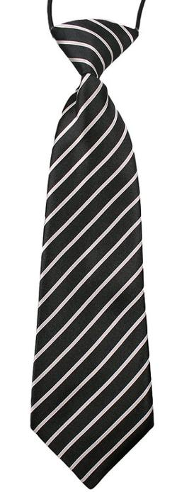 Born Posh  - Black and White Stripes Neck Tie Thin Pinstriped