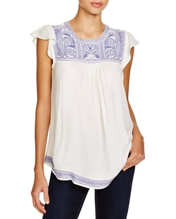 Joie  - Rankin Embroidered Peasant Top