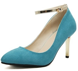 Crape myrtle - Suede Ankle Strap Stiletto