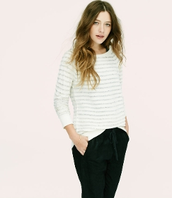 Loft - Lou & Grey Granite Stripe Sweater