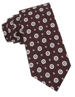 Black Brown 1826 - Wool & Silk Medallion Tie