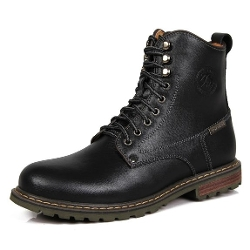 Sunrolan - Split Leather Lace-up Combat Boots
