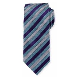 Brioni - Woven Heathered-Stripe Silk Tie