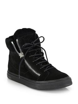 Giuseppe Zanotti  - Suede High-Top Platform Sneakers