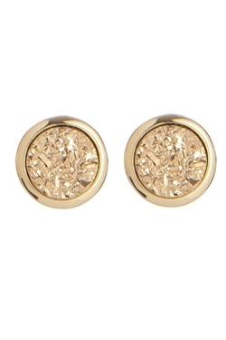 Marcia Moran - Round Druzy Stud Earrings