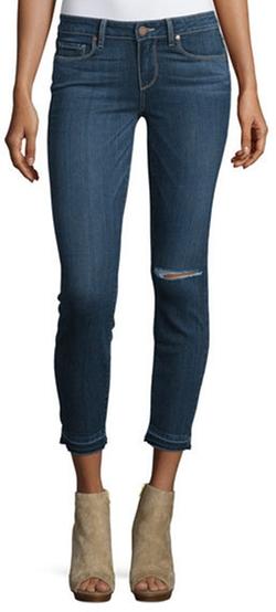 Paige Denim - Verdugo Distressed Cropped Jeans