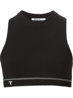 T By Alexander Wang  - Ribbed Crop Top