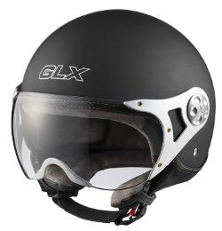 GLX  - Copter Style Open Face Motorcycle Helmet