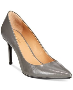 Calvin Klein - Carra Pointed-Toe Leather Pumps