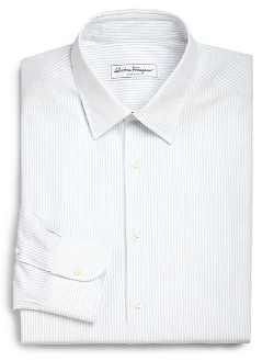 Salvatore Ferragamo  - Striped Cotton Dress Shirt