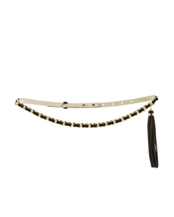 White House Black Market - Chain Tassel Belt