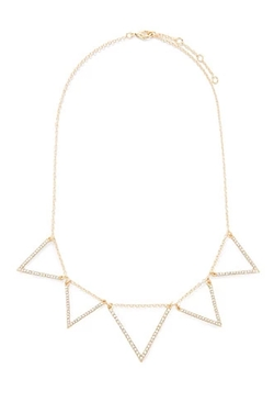 Forever 21 - Rhinestone Triangle Statement Necklace