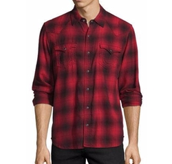 True Religion - Western Plaid Long-Sleeve Shirt