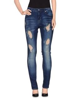 Charlotte Russe - Medium Wash Destroyed Jeans