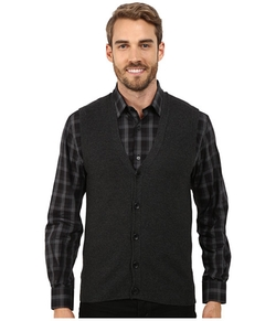 Perry Ellis - Cotton Blend Solid Sweater Vest