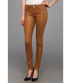 7 For All Mankind - Knee Seam Skinny in Cognac Crackle Pants