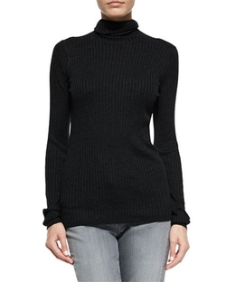 Vince - Long-Sleeve Skinny-Rib Sweater