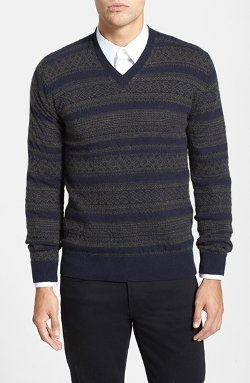 French Connection  - Slim Fit V-Neck Wool Blend Sweater