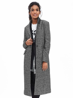 Banana Republic - Tweed One-Button Coat