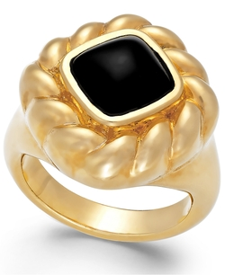 Signature Gold - Onyx Rope Ring