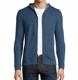 Majestic Paris For Neiman Marcus - Cotton/Cashmere Zip-Up Hoodie Jacket