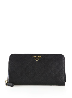 Prada  - Quilted Saffiano Zip-Around Wallet