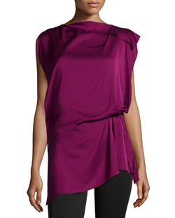Kobi Halperin - Natalia Sleeveless Draped Blouse