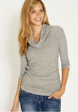 maurices - Ribbed Cowl Neck Pullover