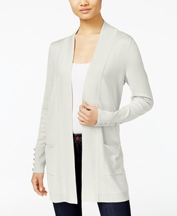 JM Collection - Open-Front Cardigan