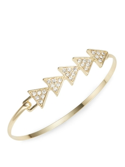 Cara - Crystal Arrow Bangle Bracelet