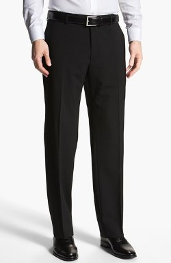 Hugo Boss - Jeffrey Us Flat Front Wool Trousers