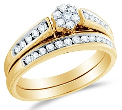 Sonia Jewels - Diamond Bridal Engagement Ring Set