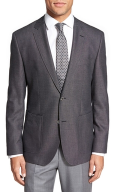 Boss  - Trim Fit Cotton Blend Blazer