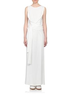 Ann Demeulemeester - Wrap-Waist Jersey Gown