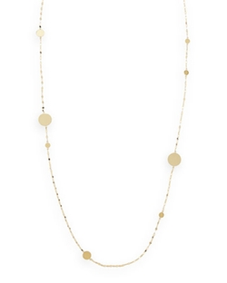Lana - Long Gold Disc Necklace