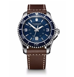 Victorinox Swiss Army  - Maverick Stainless Steel and Leather Watch