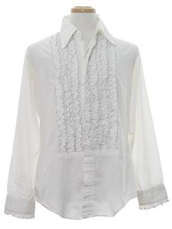 Rusty Zipper - Delton Ruffled Tuxedo Shirt