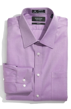 Nordstrom  - Smartcare Herringbone Trim Fit Dress Shirt