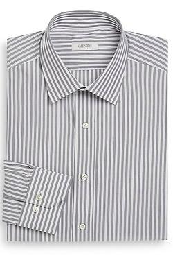 Valentino  - Classic-Fit Striped Cotton Dress Shirt