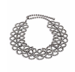 Kenneth Jay Lane  - Crystal Lace Choker Necklace