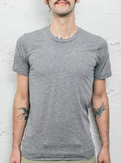 Curbside - HEATHER GREY TRIBLEND CREW  BLANK MEN