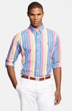 Polo Ralph Lauren  - Custom Fit Stripe Sport Shirt