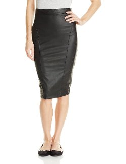 XOXO  - Juniors Faux Leather Pencil Skirt