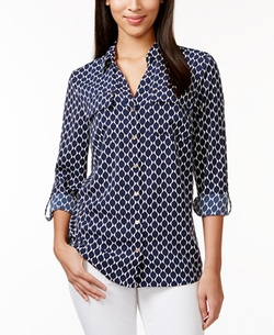 Charter Club - Printed Button-Down Shirt
