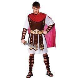 Character Fancy Dress UK - Mens Roman Medieval Centurion Soldier Gladiator Costume