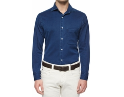 Loro Piana - Alain Denim Long-Sleeve Sport Shirt