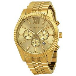 Michael Kors  - Lexington Chronograph Champagne Dial Mens Watch