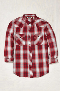 Urban Outfitters - Salt Valley Shadow Plaid Western Shirt