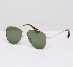 Asos - Flat Lens Aviator Sunglasses